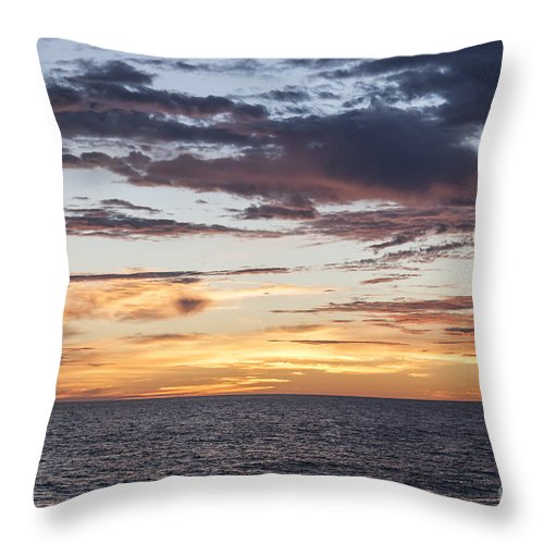 Sunrise Throw Pillow featuring the photograph Sunrise Over The Sea Of Cortez by Liz Leyden