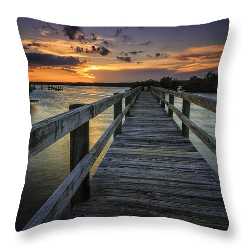 Sunset Throw Pillow featuring the photograph Sunset At Wildcat Cove by Fran Gallogly