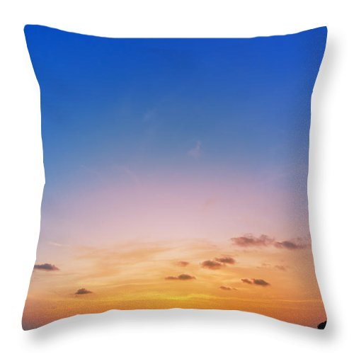 Andaman Throw Pillow featuring the photograph Sunset On Phiphi Island by Atiketta Sangasaeng