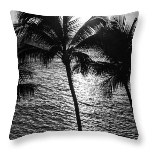 Hawaii Throw Pillow featuring the photograph Sunset Silhouette by Colleen Coccia