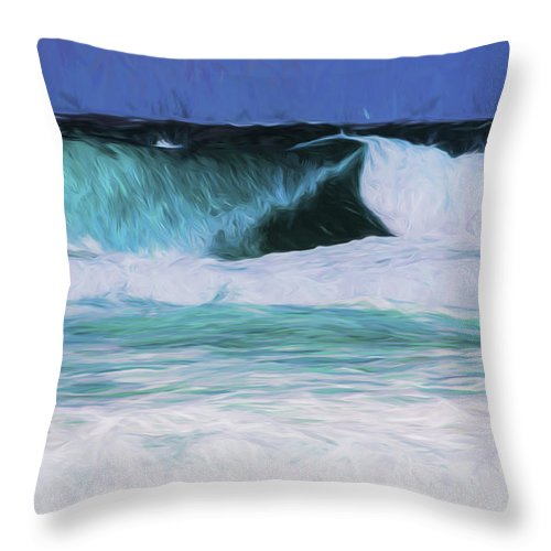 Surf Throw Pillow featuring the photograph Surfs up by Sheila Smart Fine Art Photography