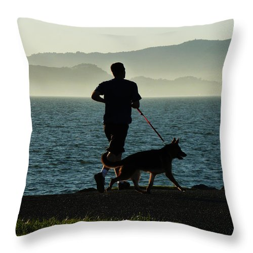 The Best Buddies Throw Pillow featuring the photograph The Best Buddies by Xueling Zou