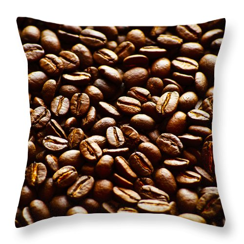 Caffeine Throw Pillow featuring the photograph The Best Part Of Waking Up by Christi Kraft