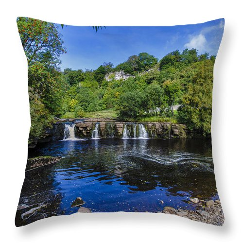 Keld Throw Pillow featuring the photograph The Force At Keld. by Trevor Kersley