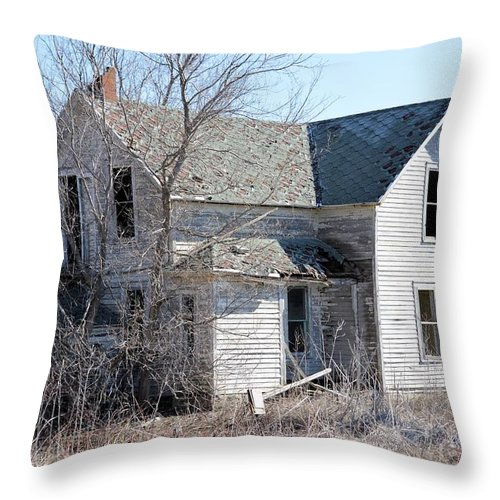 Homestead Throw Pillow featuring the photograph The Homestead by Bonfire Photography