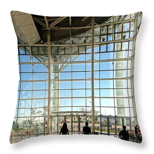 Kaohsiung Throw Pillow featuring the photograph The New Kaohsiung Exhibition Center by Yali Shi