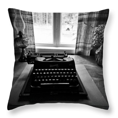 Finland Throw Pillow featuring the photograph The Office by Jouko Lehto
