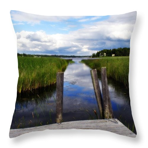 Great Lakes Throw Pillow featuring the photograph The Reflection by Marysue Ryan