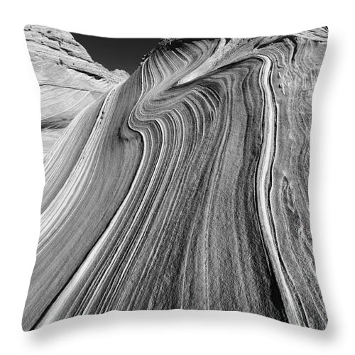 Vertical Throw Pillow featuring the photograph The Wave In The North Coyote Buttes by Henk Meijer Photography