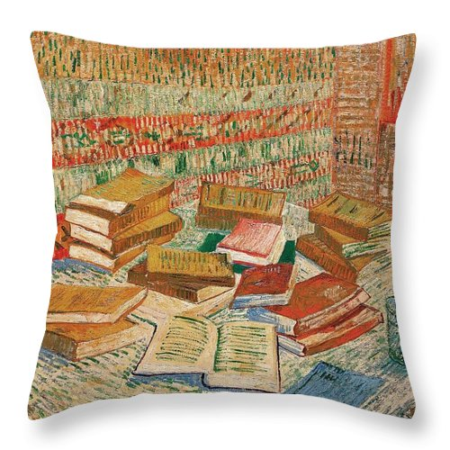 1887 Throw Pillow featuring the painting The Yellow Books by Vincent van Gogh