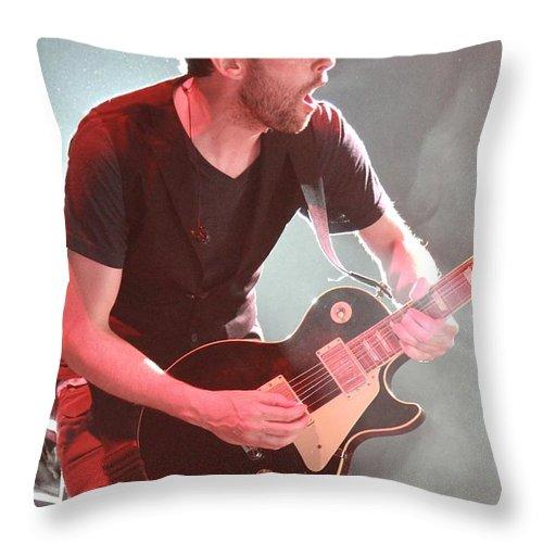 Performing Throw Pillow featuring the photograph Third Eye Blind - Kryz Reid by Concert Photos