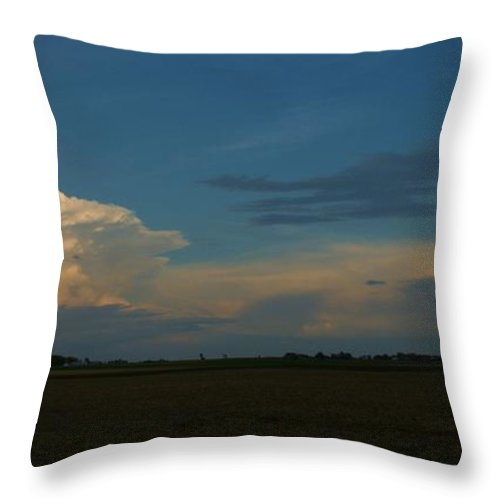Clouds Throw Pillow featuring the photograph Thunderstorm by Eric Noa