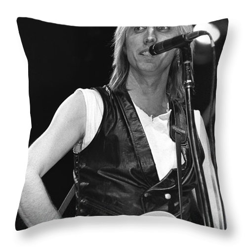 Singer Throw Pillow featuring the photograph Tom Petty And The Heartbreakers by Concert Photos