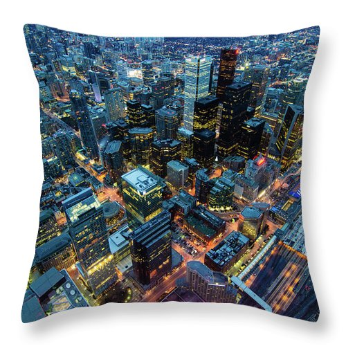 Toronto Throw Pillow featuring the photograph Toronto by Naeem Jaffer
