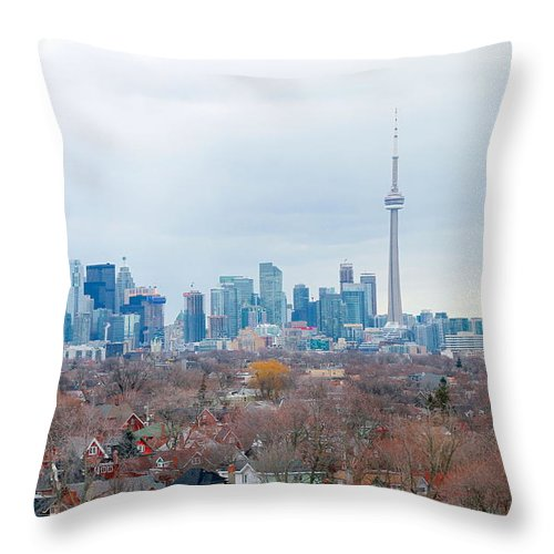 Apartment Throw Pillow featuring the photograph Toronto View by Valentino Visentini