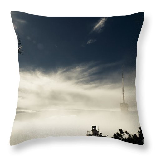 Tibidabo Hill Throw Pillow featuring the photograph Torre De Collserola Barcelona by Paul Adams