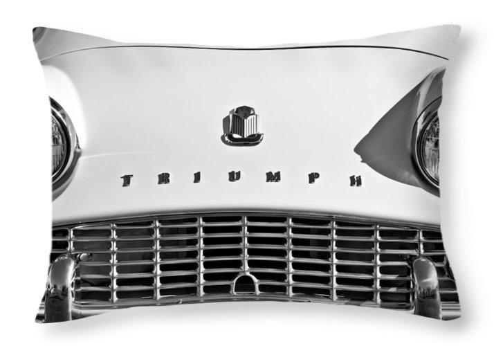 Triumph Tr3 Grille Emblem Throw Pillow For Sale By Jill Reger 20