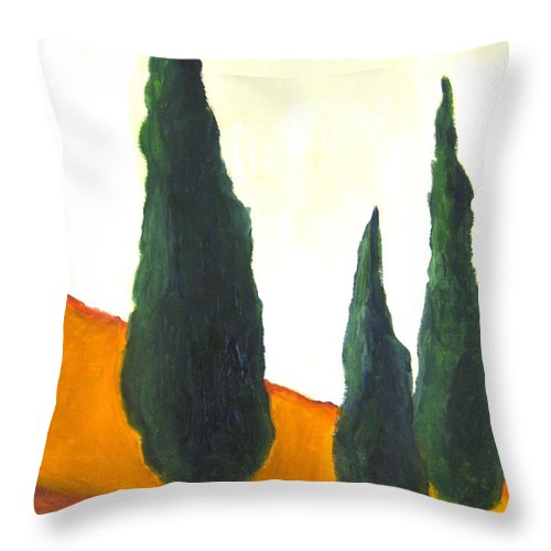 Tuscany Throw Pillow featuring the painting Tuscany by Venus