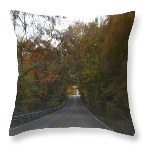 Autumn Throw Pillow featuring the photograph Twice The Speed Of Autumn by Dan McCafferty