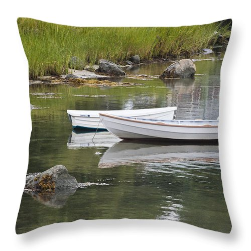 Boat Throw Pillow featuring the photograph Two Boats by Dennis Coates