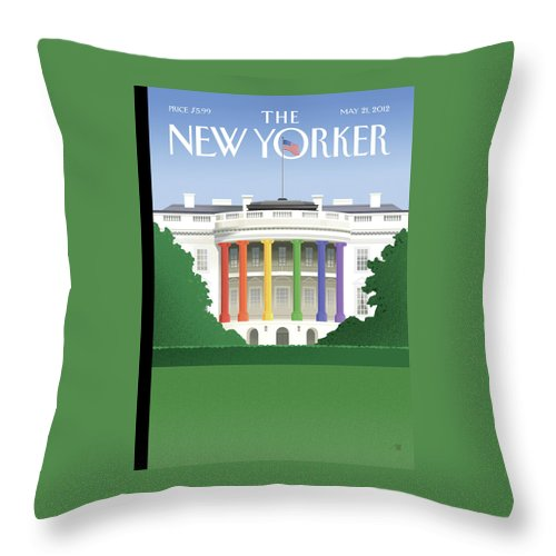 President Throw Pillow featuring the painting Spectrum Of Light by Bob Staake