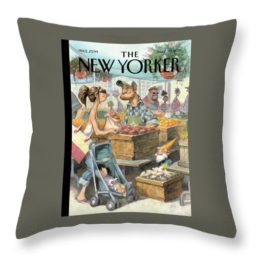 Small Growers Throw Pillow