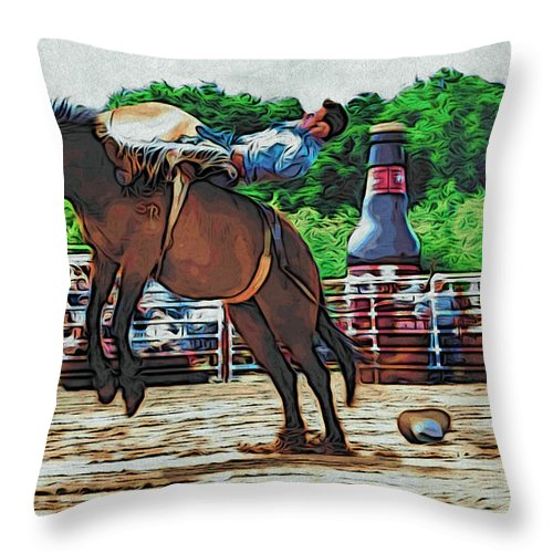 Cowboy Throw Pillow featuring the photograph Up by Alice Gipson