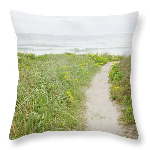 Tranquility Throw Pillow featuring the photograph Usa, Massachusetts, Nantucket Island by Chuck Plante