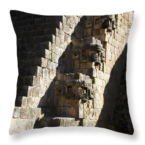 Ruta Puuc Throw Pillow featuring the photograph Uxmal Maya Ruins by For Ninety One Days