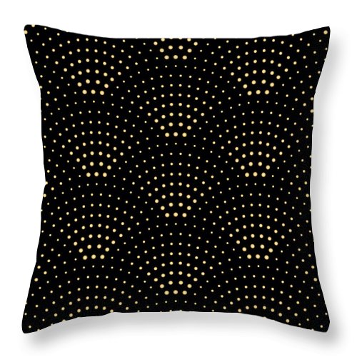 Printmaking Technique Throw Pillow featuring the digital art Vector Abstract Seamless Wavy Pattern by L kramer