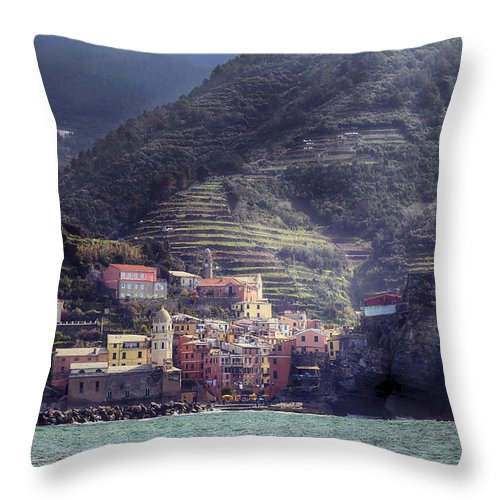 Vernazza Throw Pillow featuring the photograph Vernazza by Joana Kruse