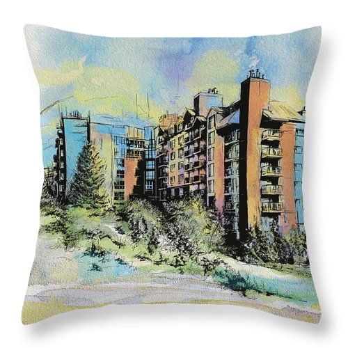 Vancouver Throw Pillow featuring the painting Victoria Art by Catf