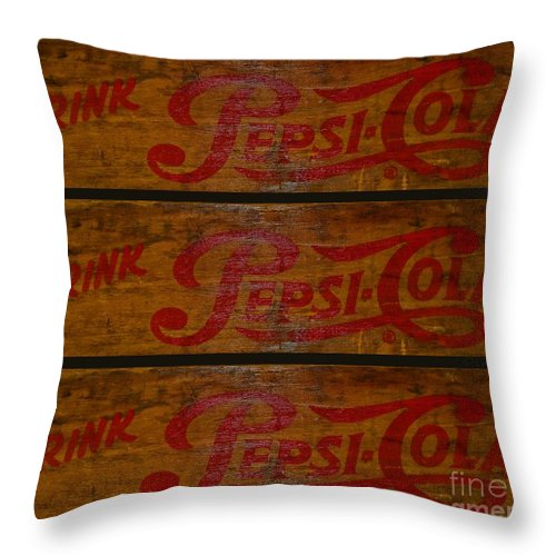 Paul Ward Throw Pillow featuring the photograph Vintage Pepsi by Paul Ward