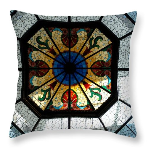 Architecture Throw Pillow featuring the photograph Visions by Joseph Yarbrough