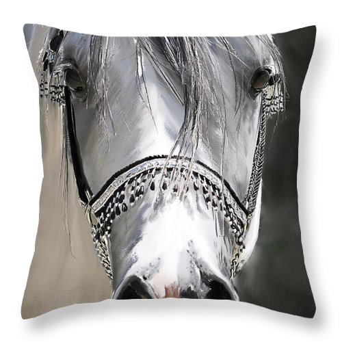 Wa Emfatyk Throw Pillow featuring the digital art Wa Emfatyk by Kim Upshaw