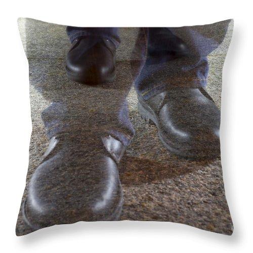 Walking Throw Pillow featuring the photograph Walking by Mats Silvan