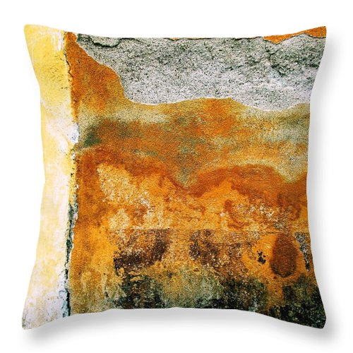 Wall Abstract Throw Pillow featuring the digital art Wall Abstract 35 by Maria Huntley