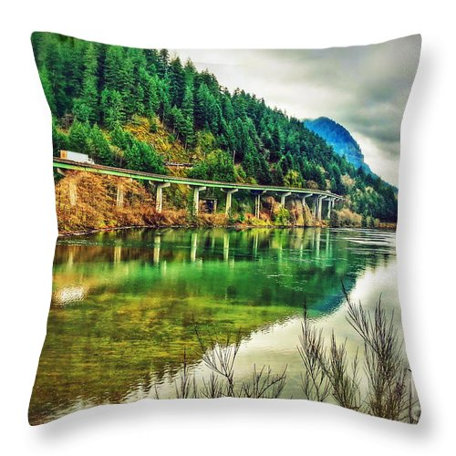 Washington Throw Pillow featuring the photograph Washington Forest by Tina Wentworth