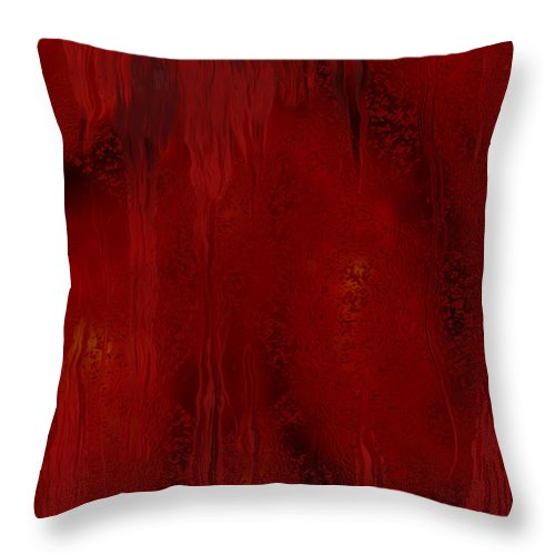 Watch Throw Pillow featuring the painting Watching And Waiting by Jack Zulli