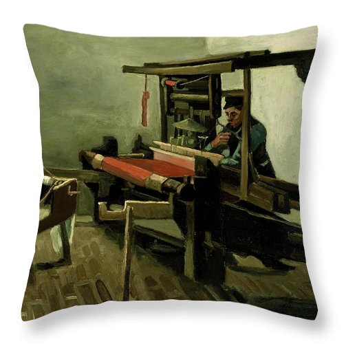 1884 Throw Pillow featuring the painting Weaver by Vincent van Gogh