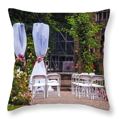 Utrecht Throw Pillow featuring the photograph Wedding Arrangement In De Haar Castle. Utrecht by Jenny Rainbow