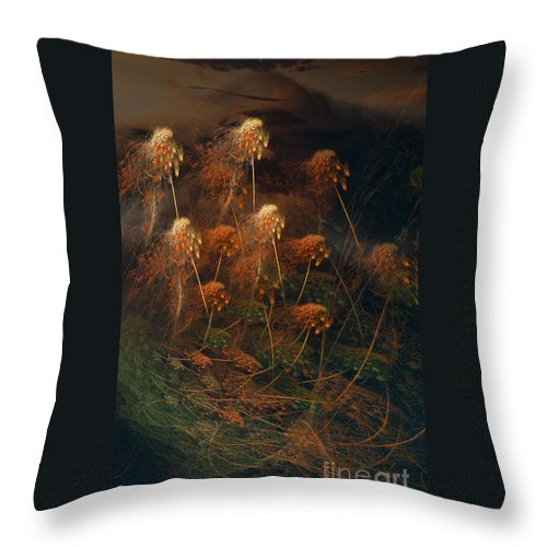Weeds Throw Pillow featuring the photograph Weeds by David Arment