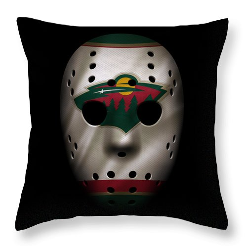 Wild Throw Pillow featuring the photograph Wild Jersey Mask by Joe Hamilton