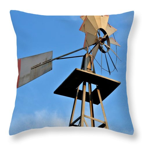 Windmill Throw Pillow featuring the photograph Windmill by Tara Potts