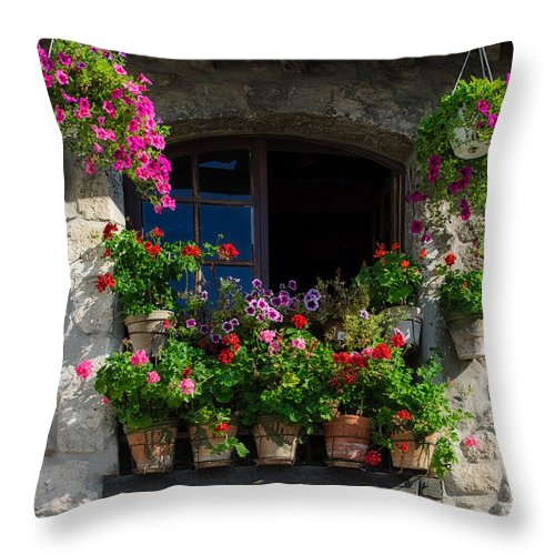 Arles Throw Pillow featuring the photograph Window Dressing by Michael Blanchette