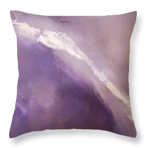 Abstract Throw Pillow featuring the painting Wings by Lord Frederick Lyle Morris - Disabled Veteran