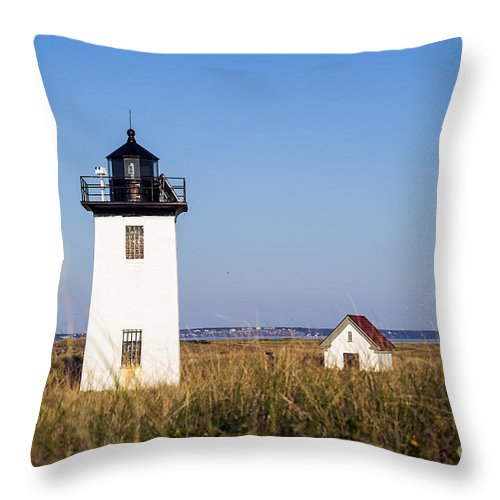 Cape Cod Throw Pillow featuring the photograph Wood End Lighthouse by John Greim