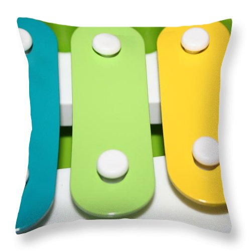 Metal Photographs Throw Pillow featuring the photograph Xylophone by Ester Rogers