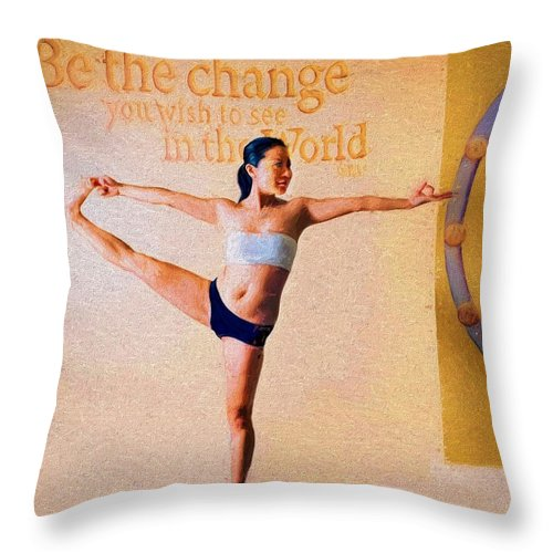 Yoga Throw Pillow featuring the photograph Yoga by Bill Howard