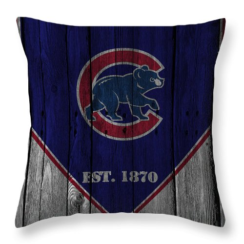Cubs Throw Pillow featuring the photograph Chicago Cubs by Joe Hamilton